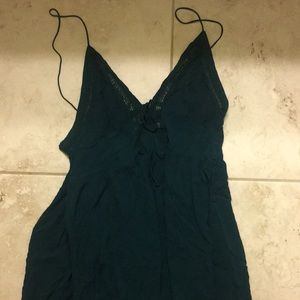 Free People First Love Fit + Flare dress in teal